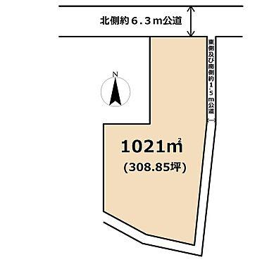 土地-東松山市大字上野本 区画図