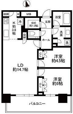 中古マンション-横浜市中区北仲通5丁目 ☆新築未入居のお部屋です☆2LDK+SIC☆家具の配置がしやすいリビングです☆