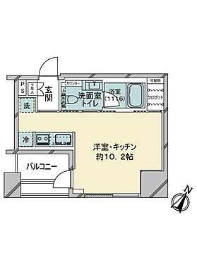 中古マンション-中央区銀座8丁目 間取り