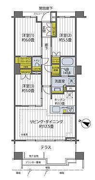 区分マンション-川崎市中原区小杉御殿町2丁目 72.86?、3LDKのお部屋です。