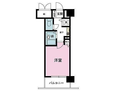 マンション(建物一部)-大阪市西区靱本町3丁目 間取り