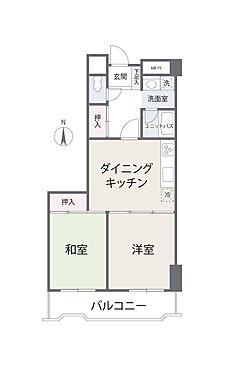 区分マンション-江戸川区平井2丁目 間取り図