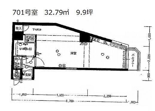 マンション(建物一部)-大阪市中央区北久宝寺町2丁目 単身向けの1Rタイプ