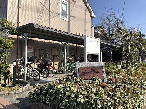 アパート-羽曳野市西浦3丁目 バイクも駐車できる駐輪場。