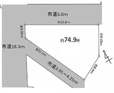 土地-坂戸市溝端町 区画図