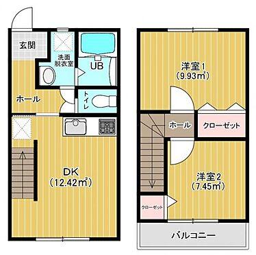アパート-福岡市東区水谷1丁目 2DK間取り