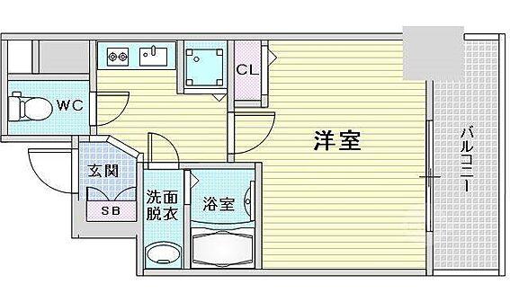 マンション(建物一部)-大阪市福島区大開2丁目 3点セパレートで清潔感がある他、室内には洗濯機置場があって便利です。