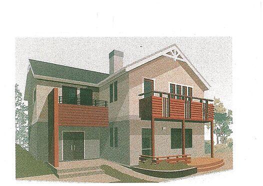 土地-高島市今津町北仰 外観推奨プラン:北欧タイプ:建物価格1660万円