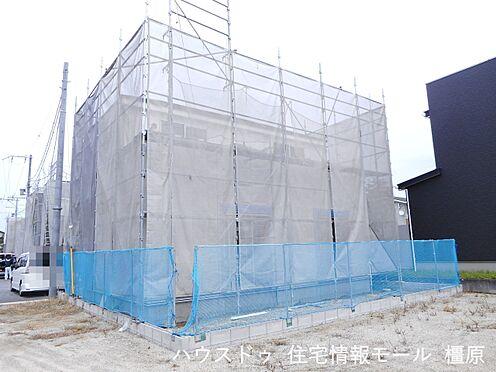 戸建賃貸-磯城郡田原本町大字阪手 現在建築工事中。大切な構造部分もしっかりご確認頂けます。モデルルームへのご案内も可能です。(2021年9月撮影)